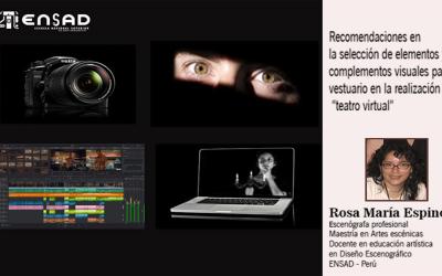 Recomendaciones en la selección de elementos y complementos visuales para el vestuario en la realización de teatro virtual